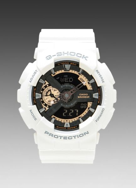 g shock gold in white for white