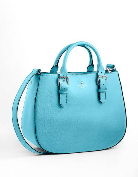 Kate Spade Leather Satchel Bag in Blue (iceburg blue)