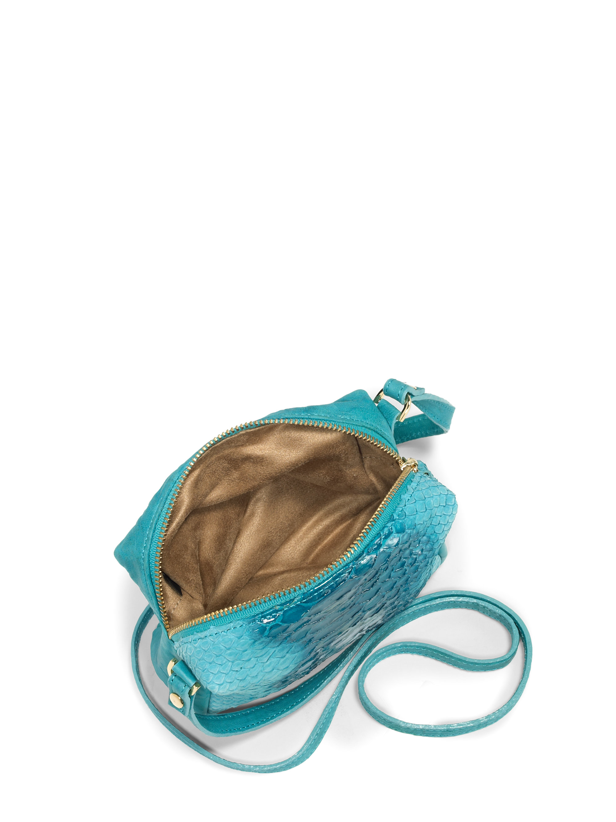 Be Amp D Pippa Python Crossbody Bagturquoise In Blue Lyst