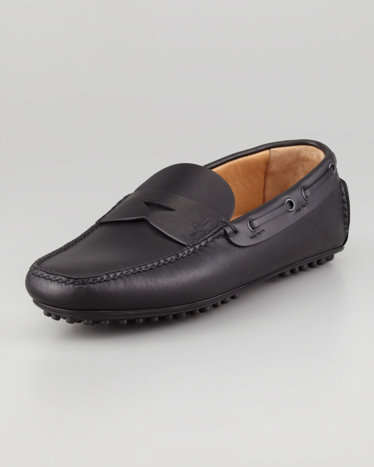 car shoe leather driver in black for lyst