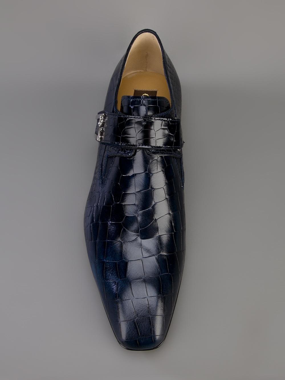 Cesare Paciotti Buckle Shoe In Blue For Men Lyst