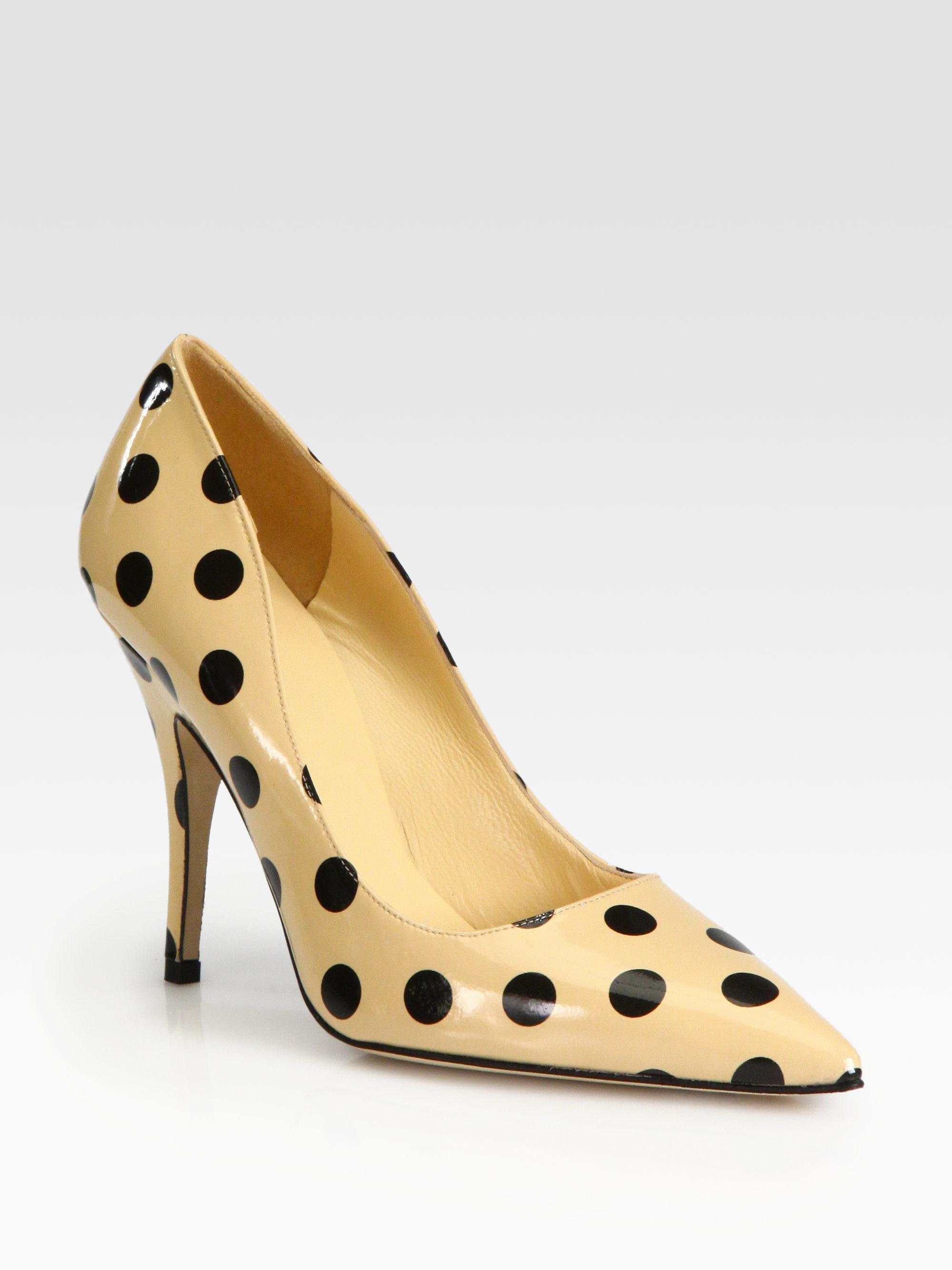 Black Polka Dot Wedge Shoes