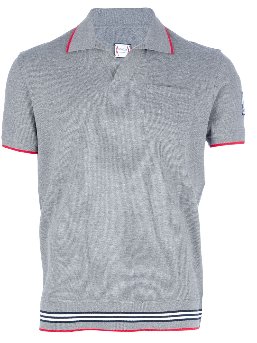 Moncler Gamme Bleu Classic Polo Shirt In Gray For Men