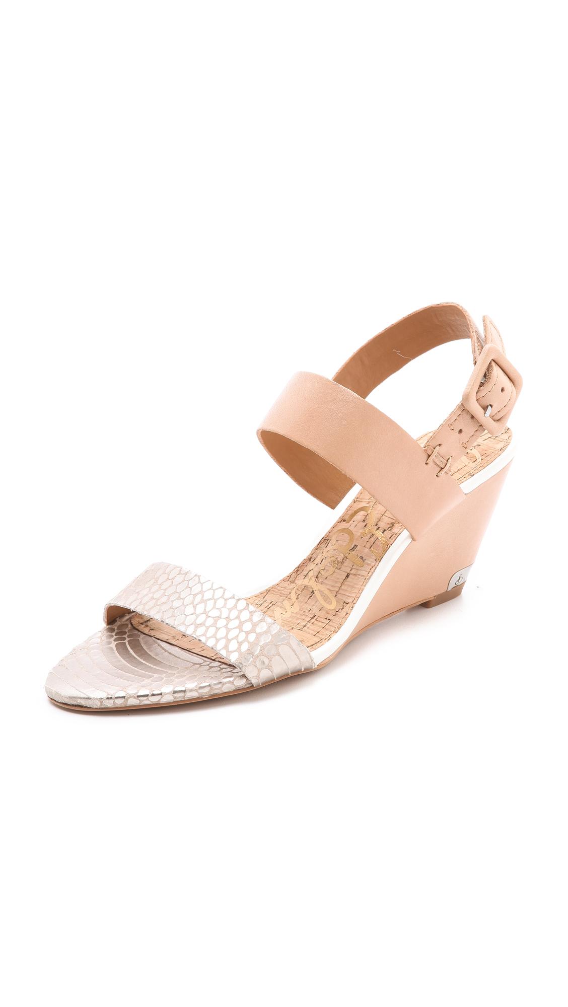 7a44c0e5d4ba8 Lyst - Sam Edelman Sutton Wedge Sandals in Natural