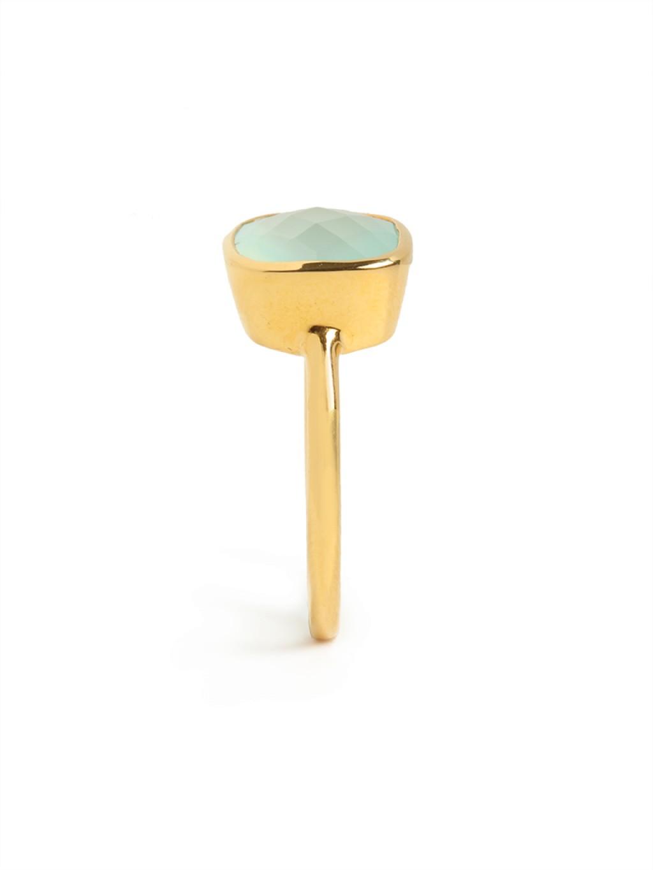 BaubleBar Chalcedony Cushion Cut Ring in Gold (Metallic)