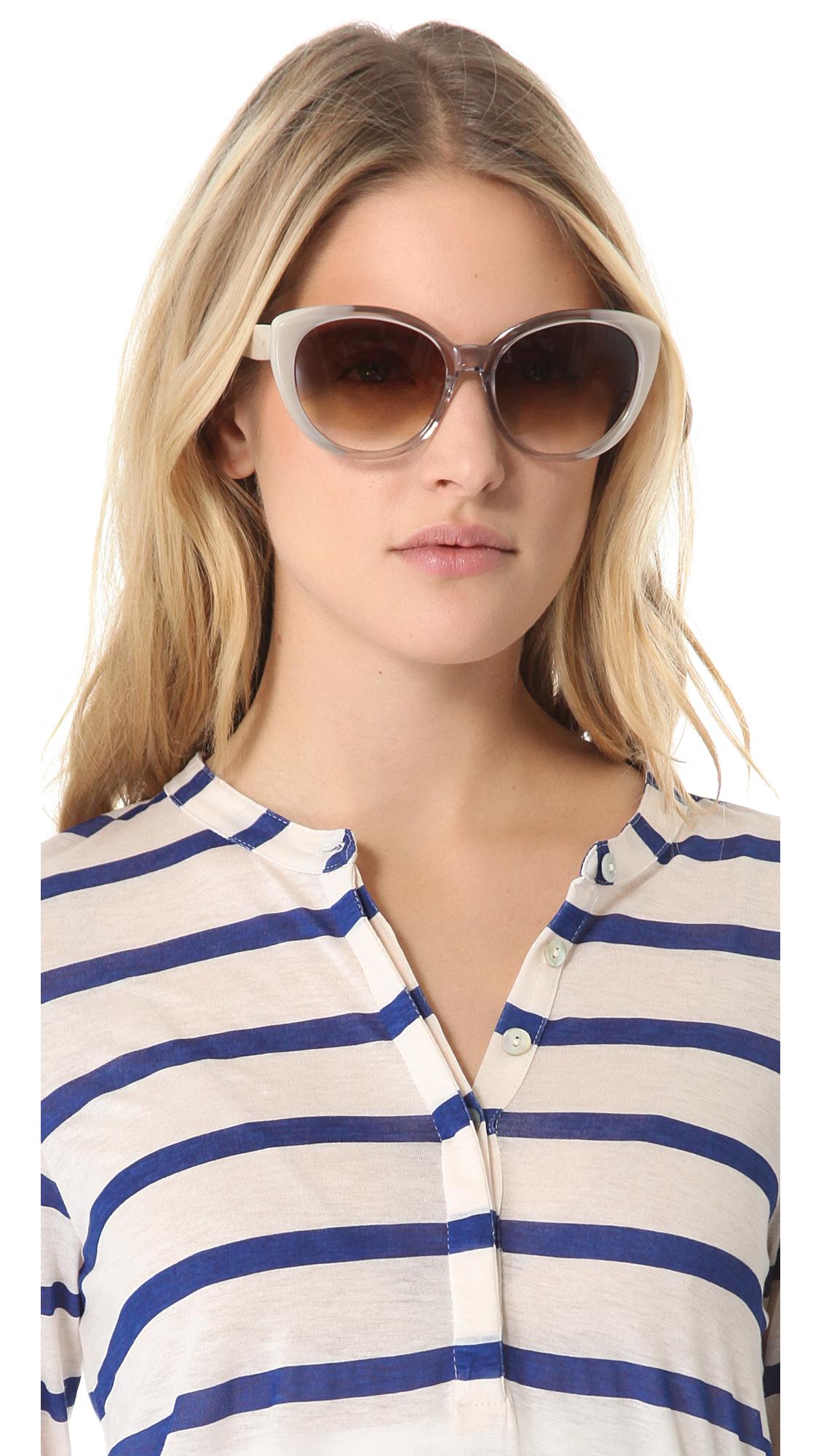 b6bfa19bc1d Lyst - Dita Amant Sunglasses in Brown