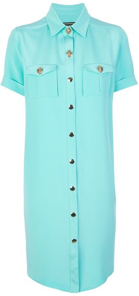 Fausto Puglisi Silk Shirt Dress - Lyst