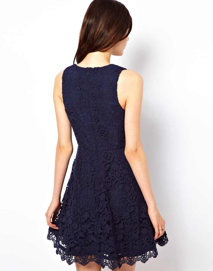 French Connection Lace Overlay Dress In White Lyst