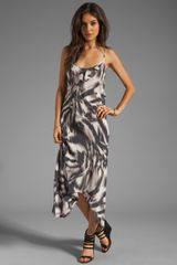 Abstract Zebra Print Tank Dress in Multi