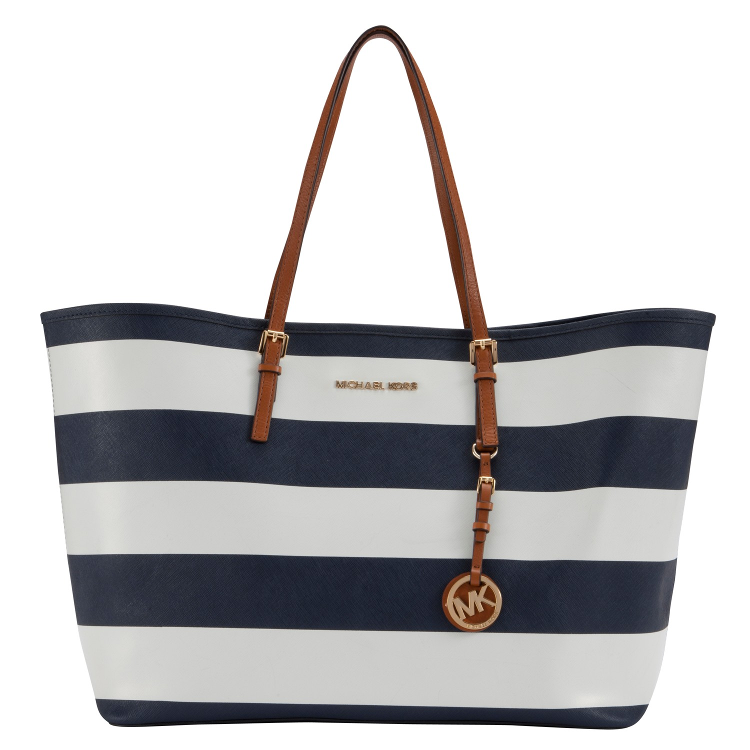 bcc1fff2b898ad Michael Kors Navy And White Striped Tote | Stanford Center for ...