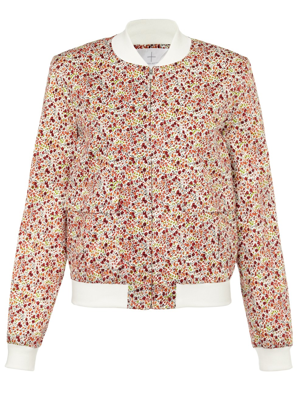 Thakoon addition Pink Floral Pocketed Bomber Jacket in Pink | Lyst