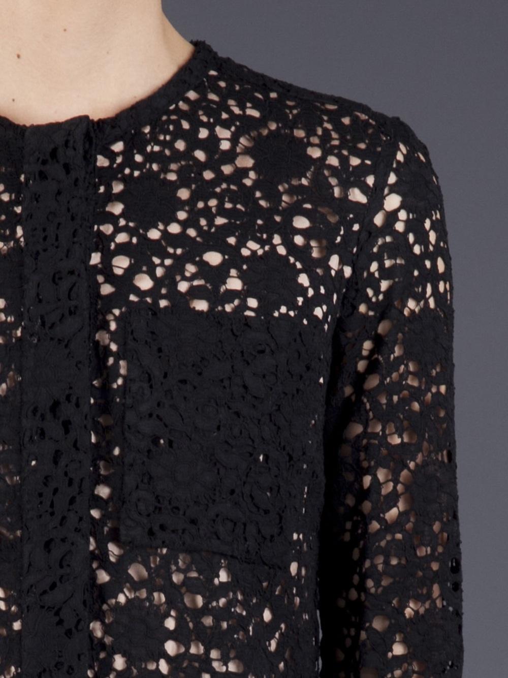 Victoria beckham patch pocket lace dress