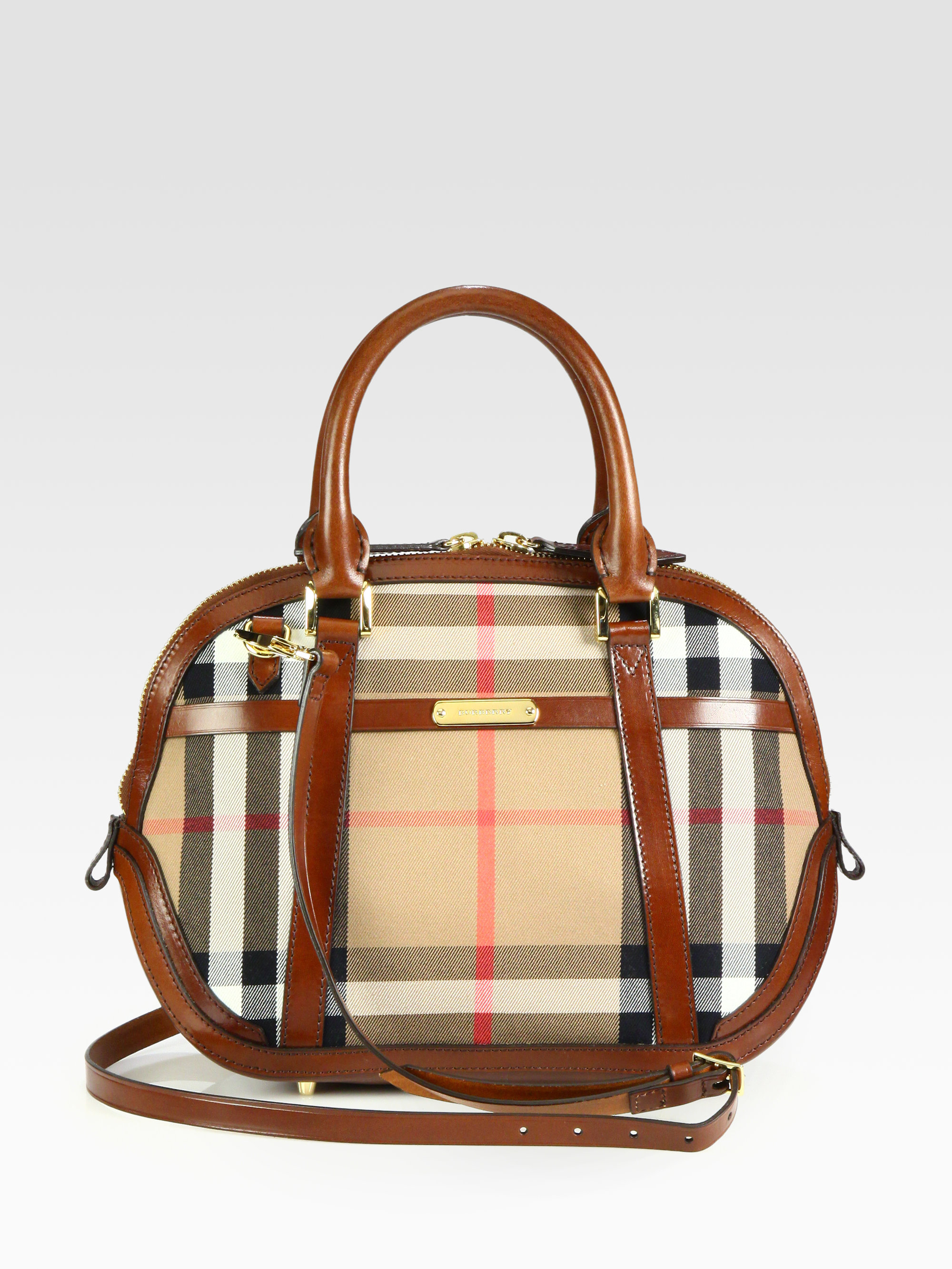 Lyst - Burberry Orchard Satchel in Brown 89f267cb06aff