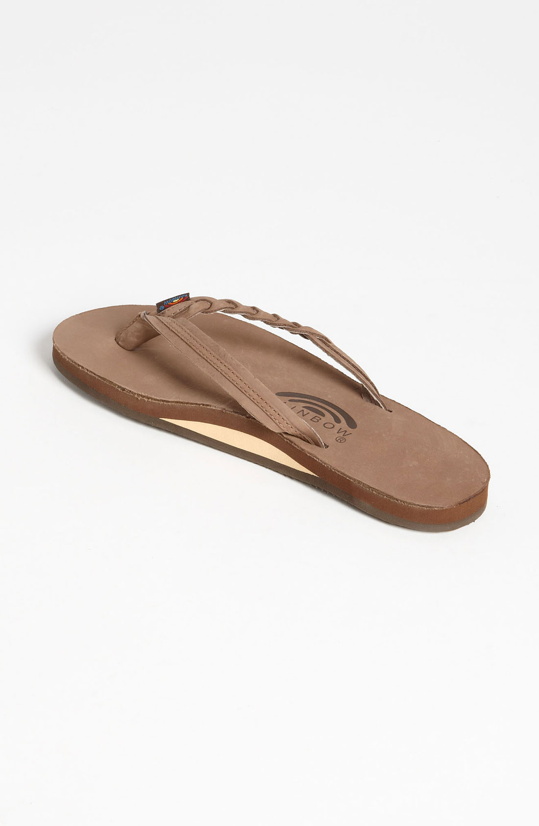 Rainbow Sandals Flirty Braided Leather Flip Flop In -3812