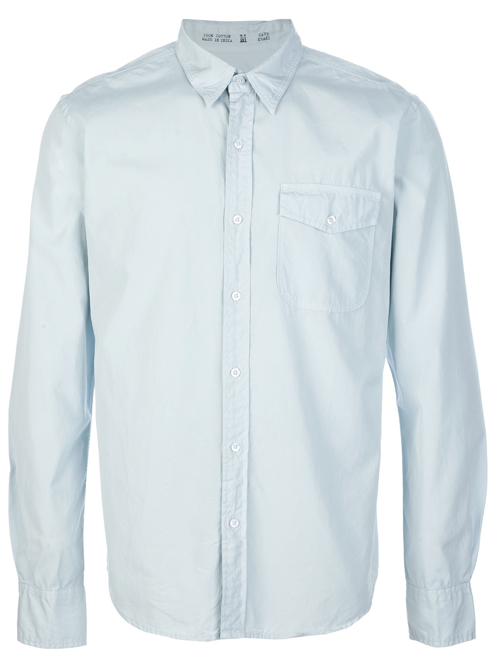 Save Khaki Button Down Shirt In Blue For Men Sky Lyst