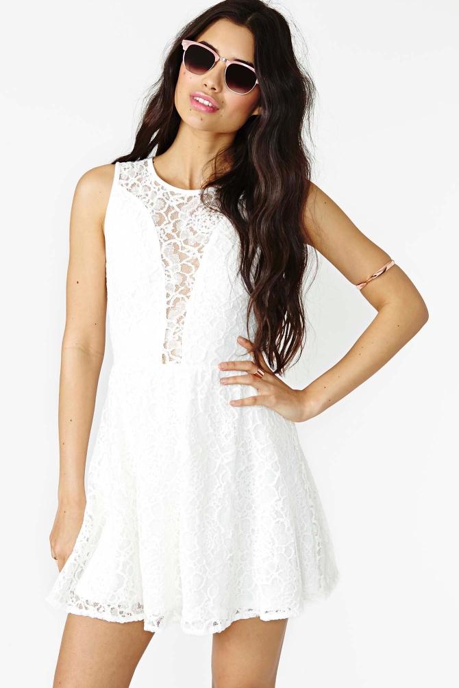 Lulu Dress White Lace