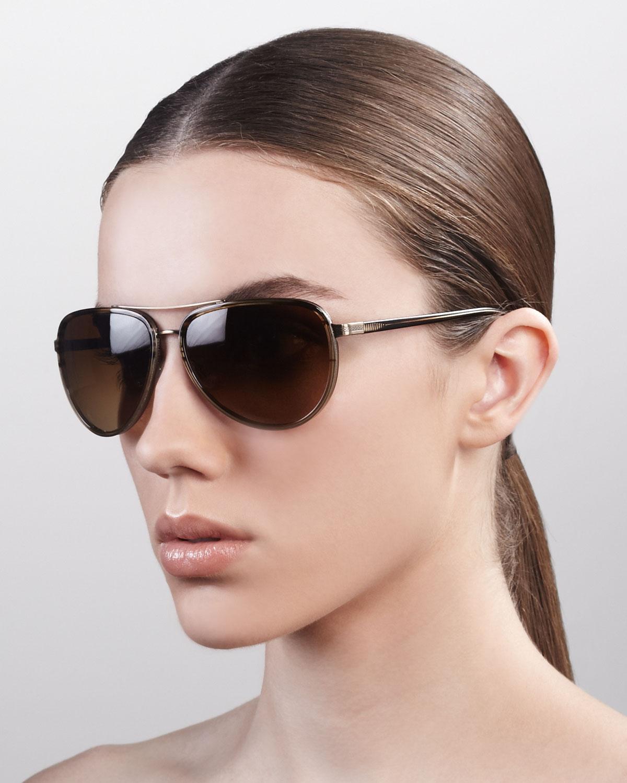 c8e68df8f Barton Perreira Womens Marshall Thickrimmed Aviator Sunglasses ...