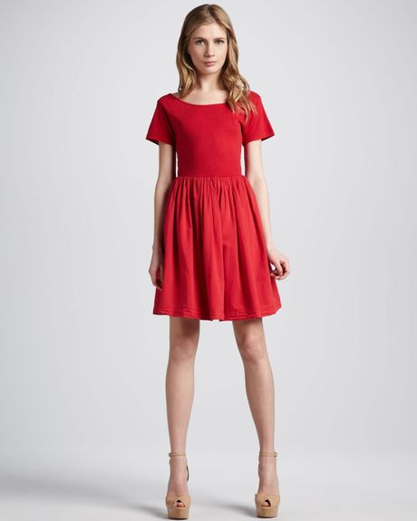 French Connection Samba Aline Dress in Red (pink)