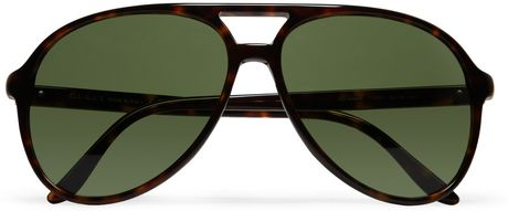 3647edbce0 Gucci Oversized Acetate Aviator Sunglasses