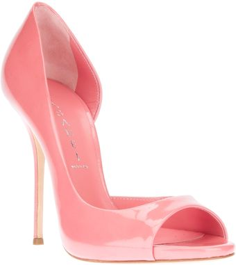 Casadei Open Toe Pumps - Lyst