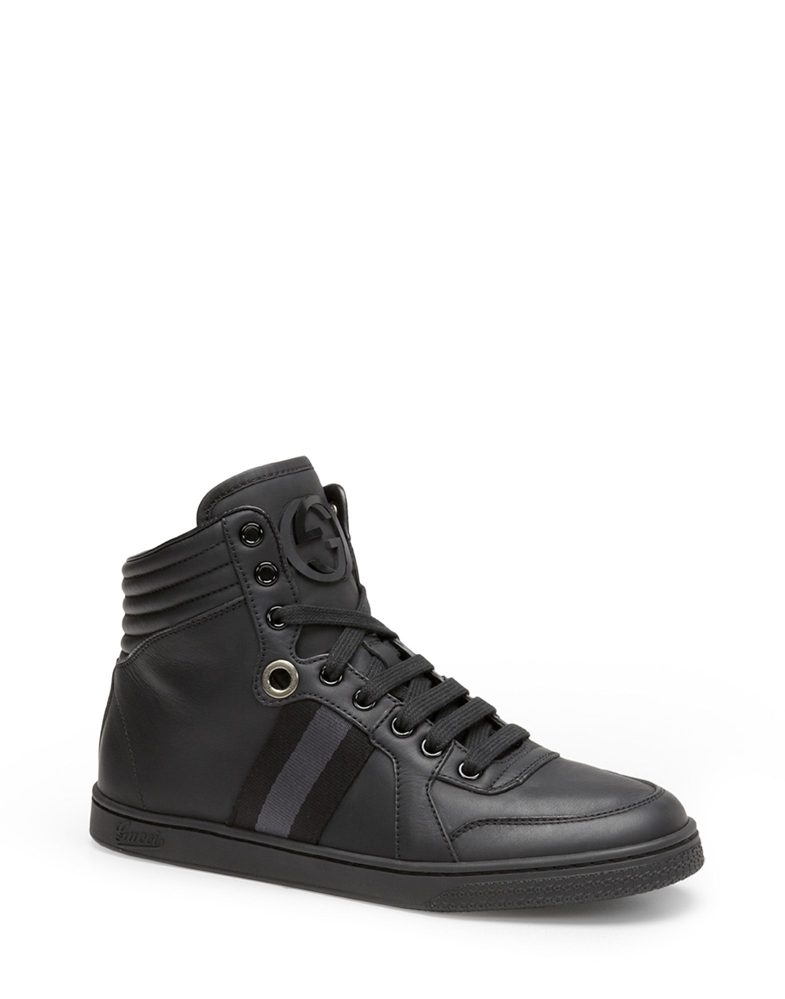 gucci high top sneakers in black lyst. Black Bedroom Furniture Sets. Home Design Ideas