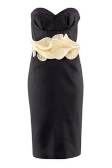 H&M Dress with A Pleated Frill - Lyst