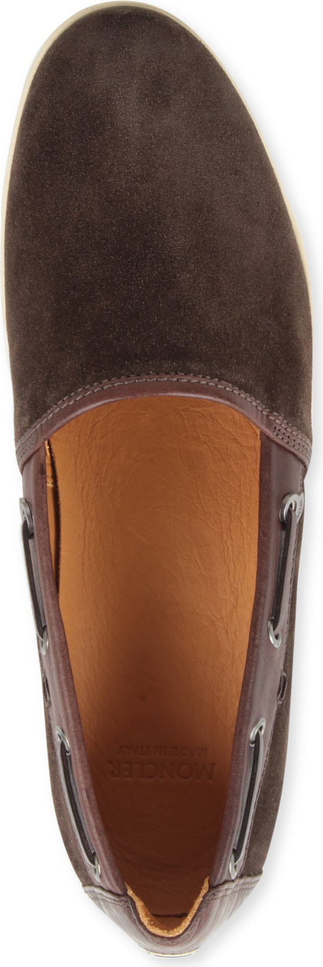 Moncler Martinique Suede Slipon Trainers in Brown for Men