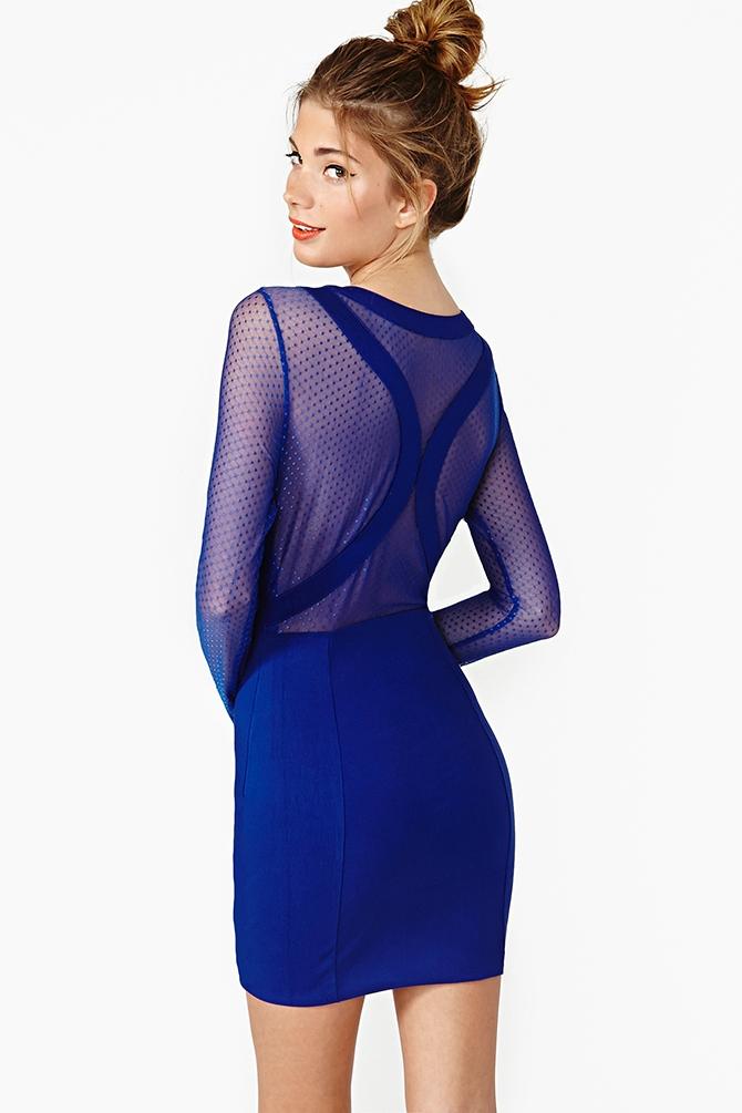 Lyst - Nasty Gal Hot Spot Dress In Blue-3756