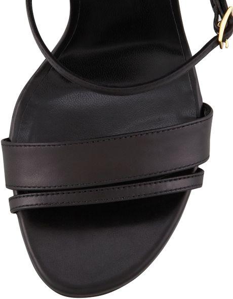 Saint Laurent Her Mary Jane Ankle Plate Sandal In Black Lyst
