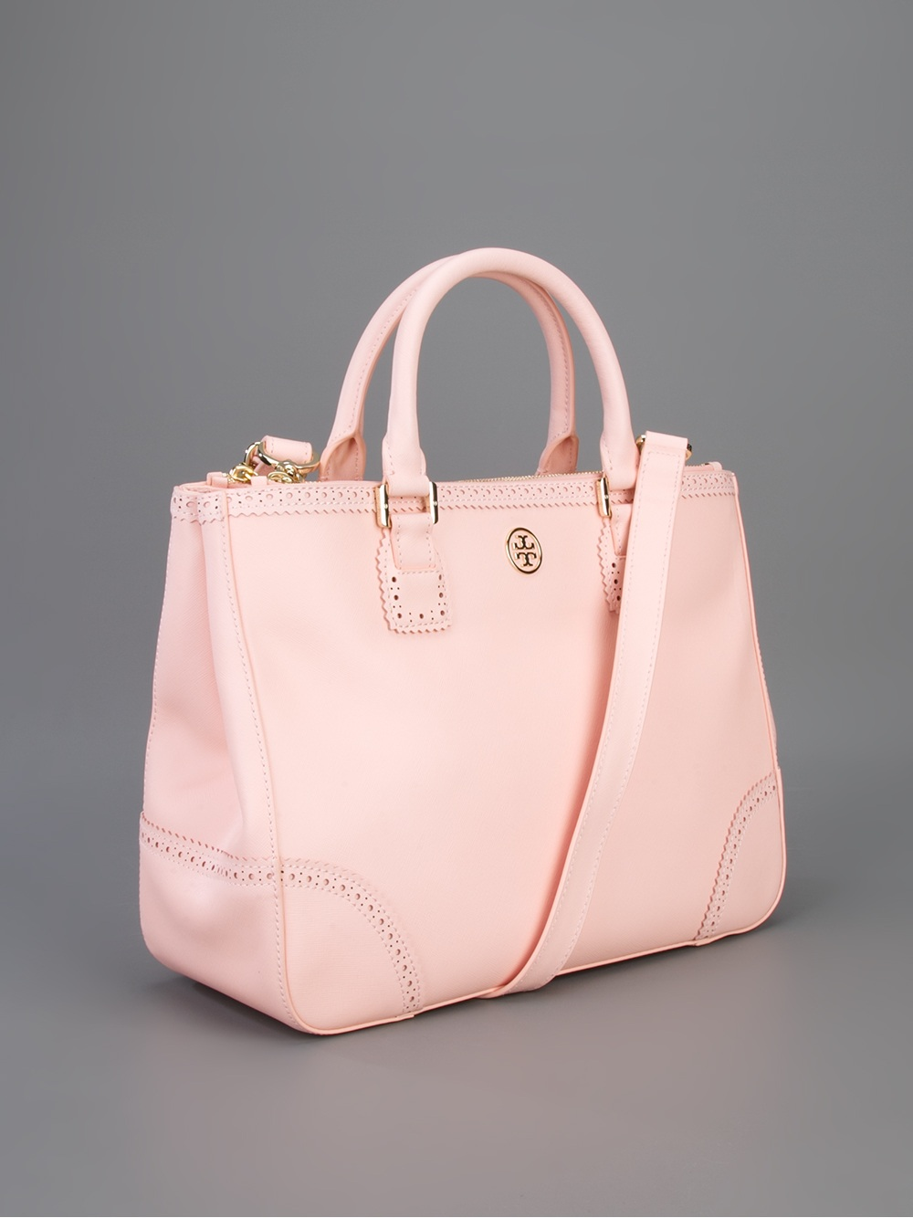 Lyst Tory Burch Robinson Spectator Bag In Pink