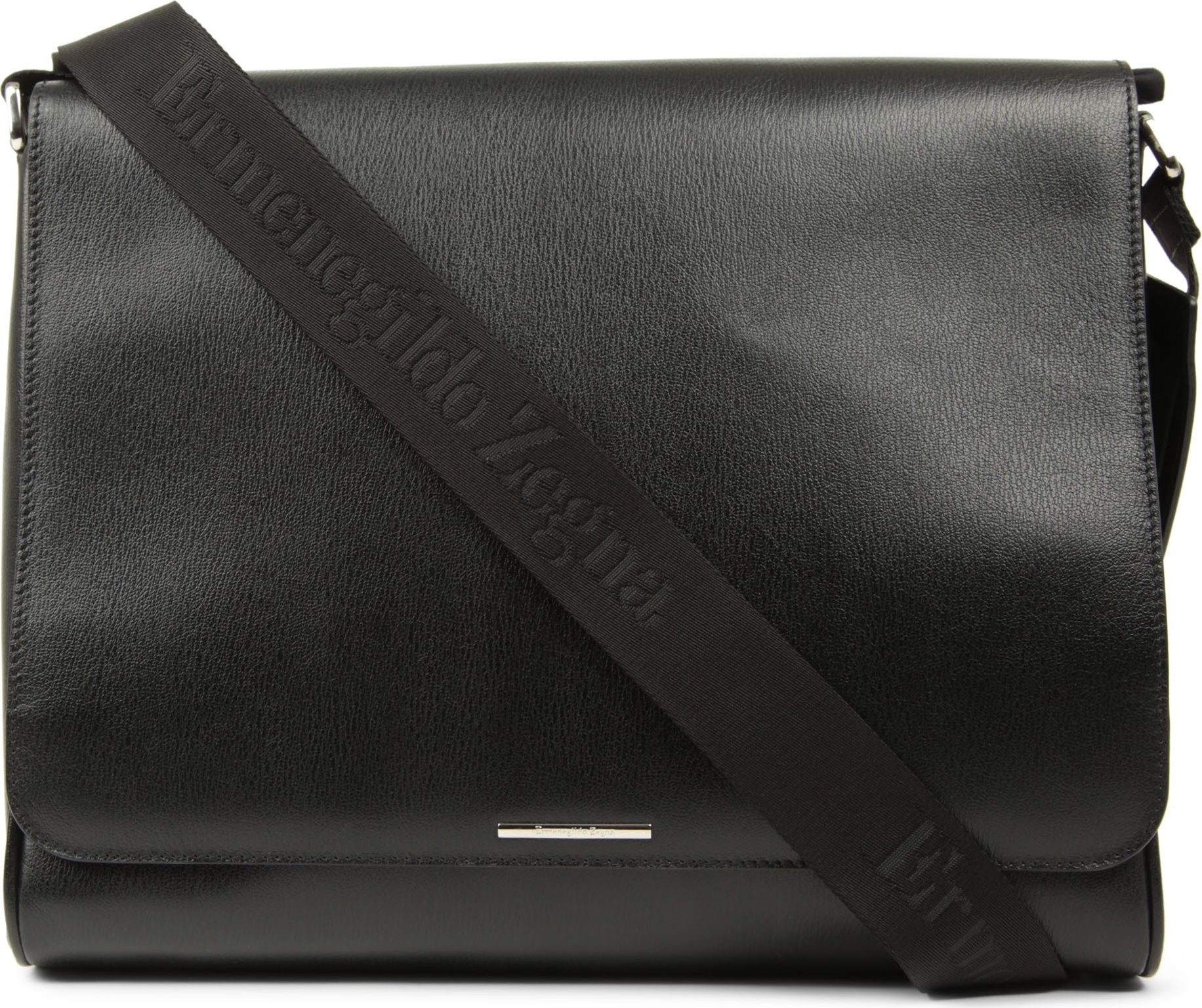6d9d634a Ermenegildo Zegna Heritage Leather Messenger Bag in Black for Men - Lyst