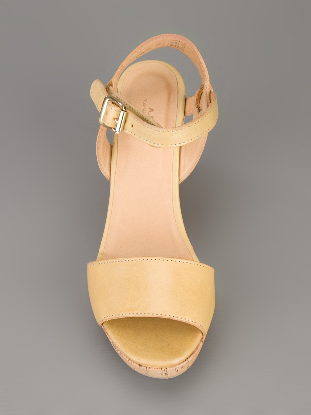 A P C Wedge Sandal In Yellow Mustard Lyst