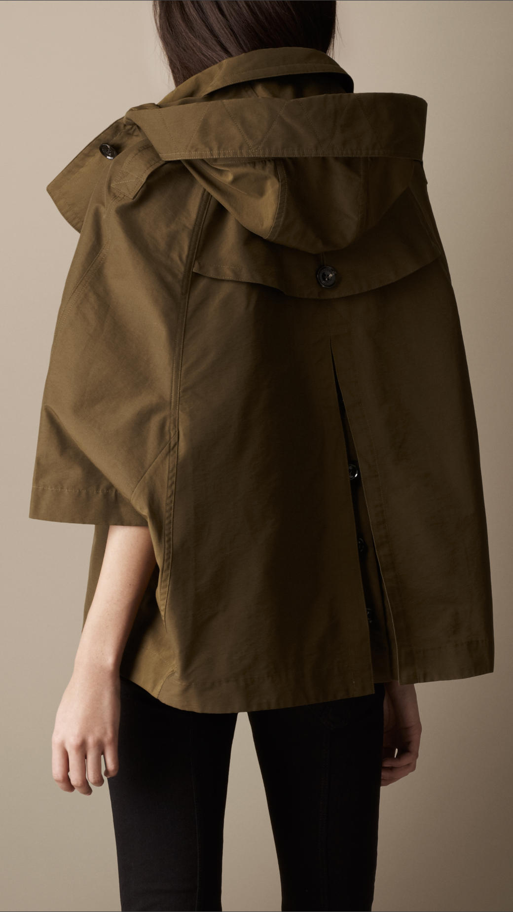 Burberry brit Short Swing Cape Trench Coat in Brown | Lyst