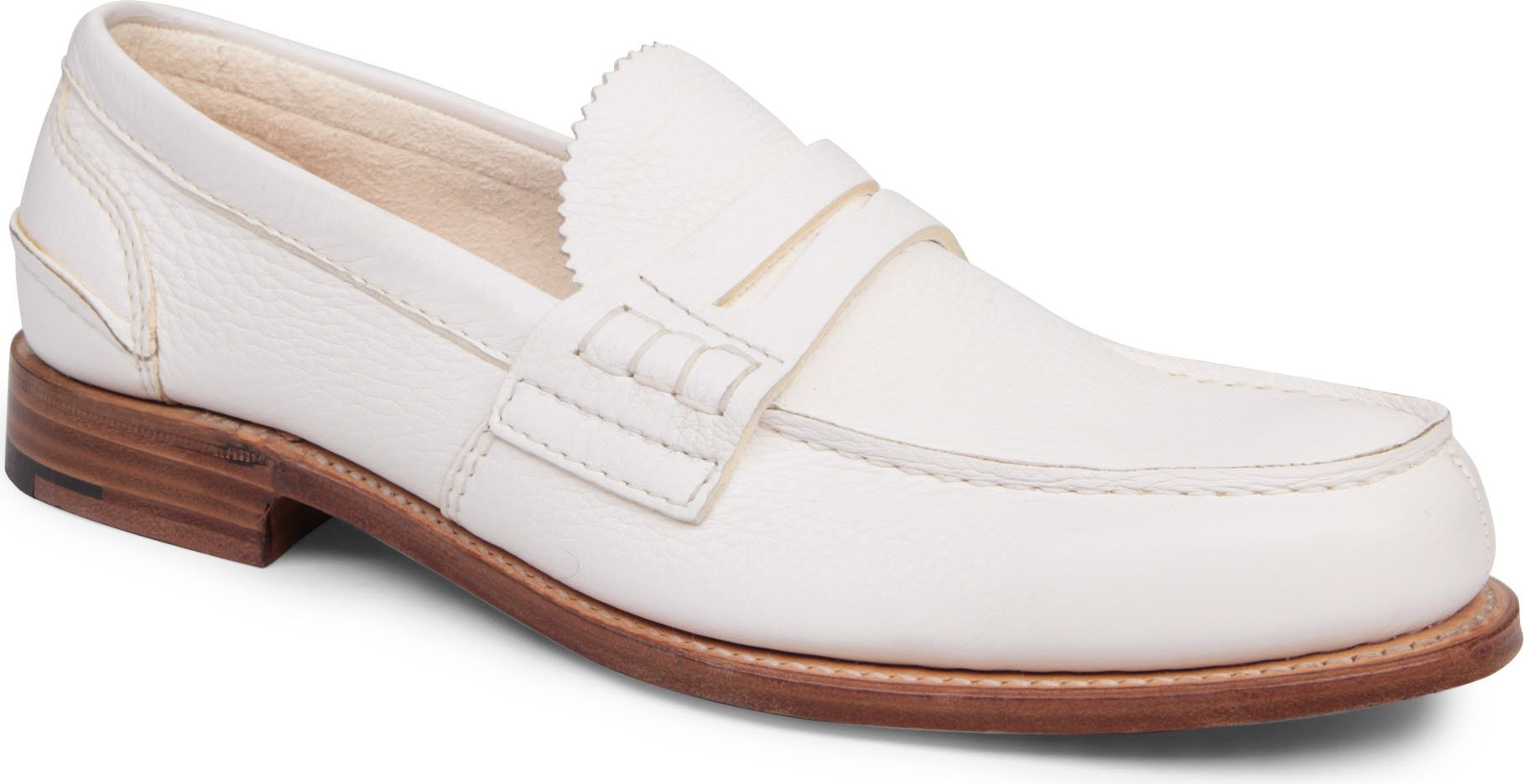 Church's Pembrey Penny Loafers in White for Men - Lyst