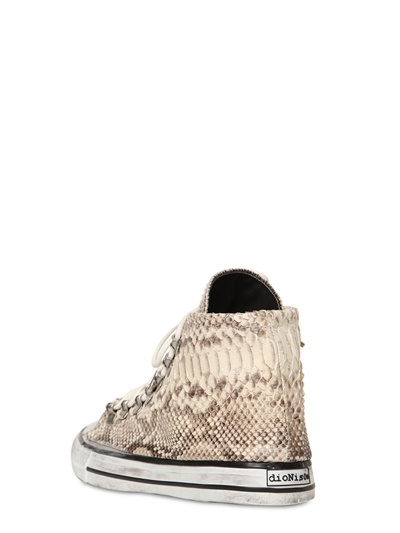 Black Dioniso 20mm Python High Top Sneakers