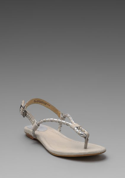 frye madison braid sling sandal in silver multi in silver
