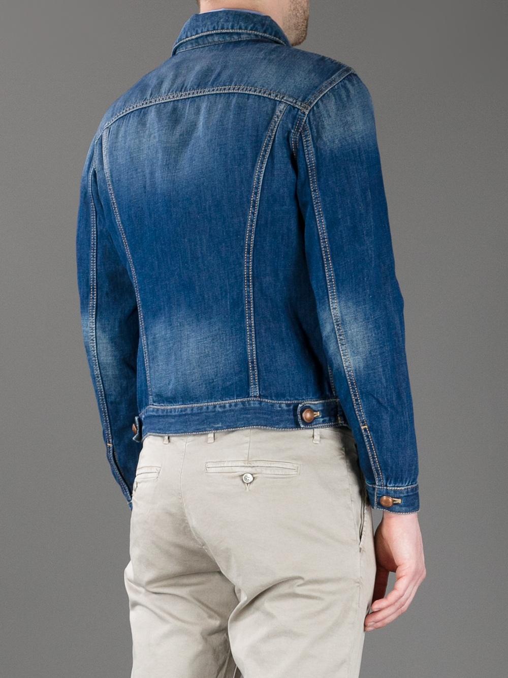 Jacob cohen denim jacket in blue for men denim lyst - Jacob cohen denim ...
