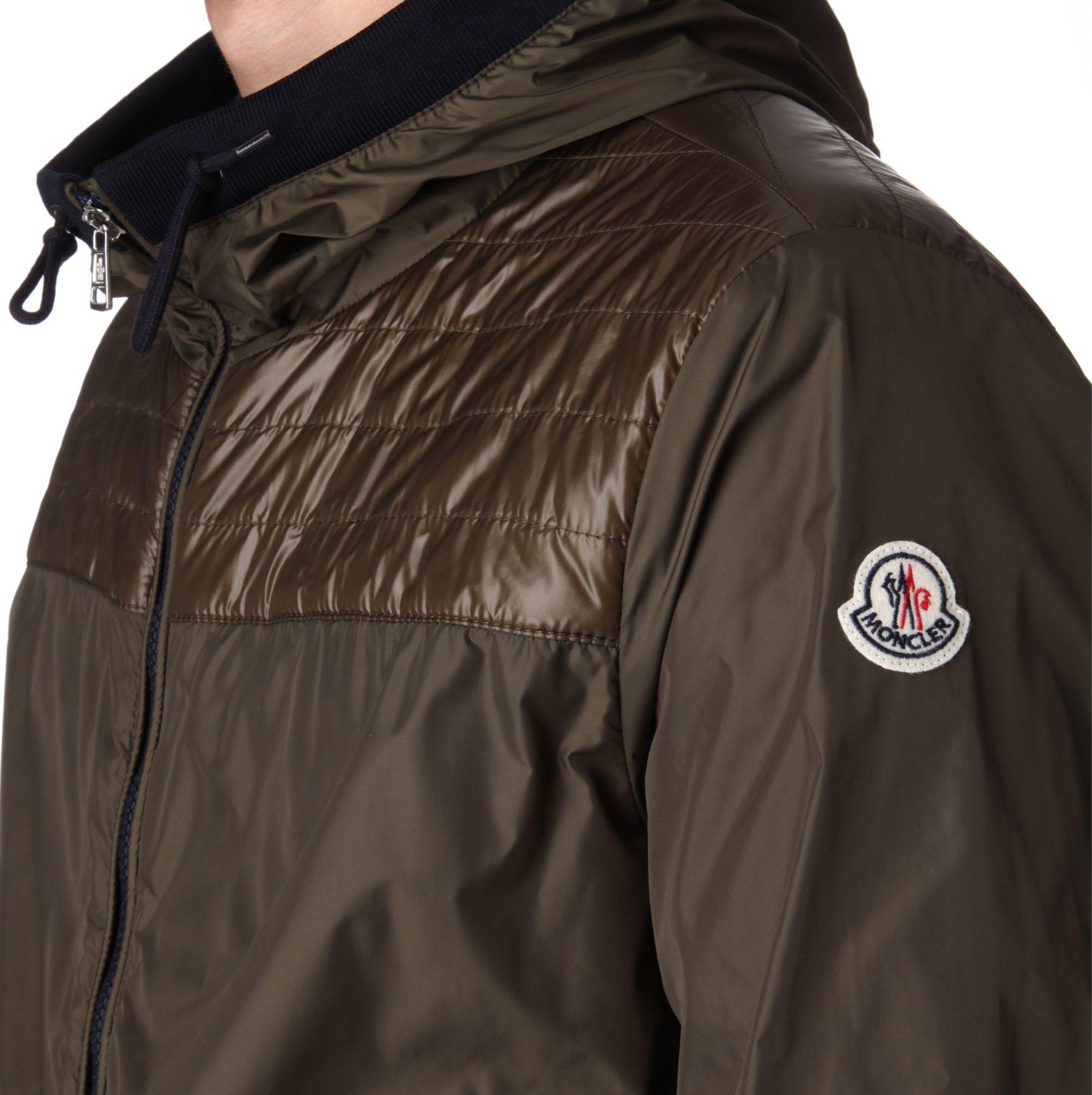 Moncler Cedric Hooded Jacket in Green for Men