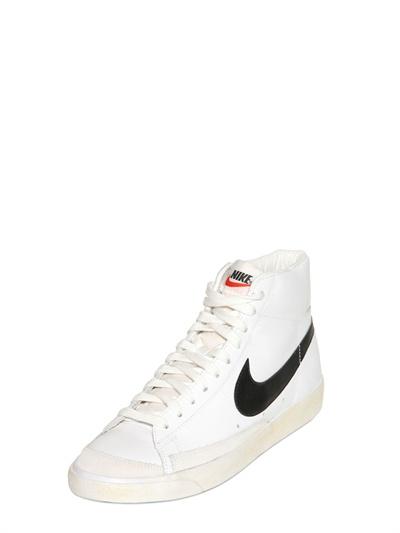 new product d7071 31ef9 Nike White Blazer Mid 77 Premium Vintage Sneakers for men