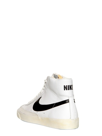 detailed look 77b5a 851ca ... italy lyst nike blazer mid 77 premium vintage sneakers in white for men  6ffa9 ce424