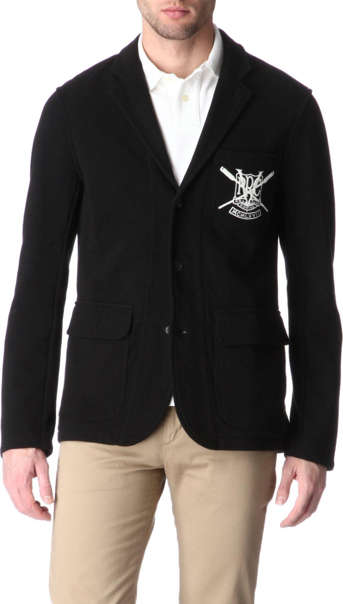 ralph lauren rowing club blazer in black for men lyst. Black Bedroom Furniture Sets. Home Design Ideas