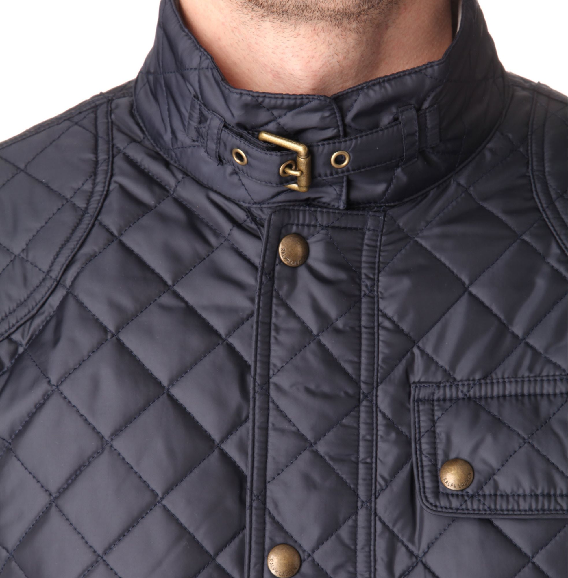 Ralph Lauren Cadwell Quilted Bomber Jacket In Blue For Men