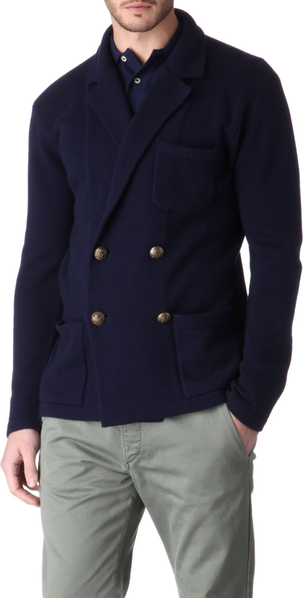 ralph lauren cashmere blazer in blue for men navy lyst. Black Bedroom Furniture Sets. Home Design Ideas
