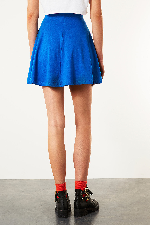 topshop bright blue skater skirt in blue lyst
