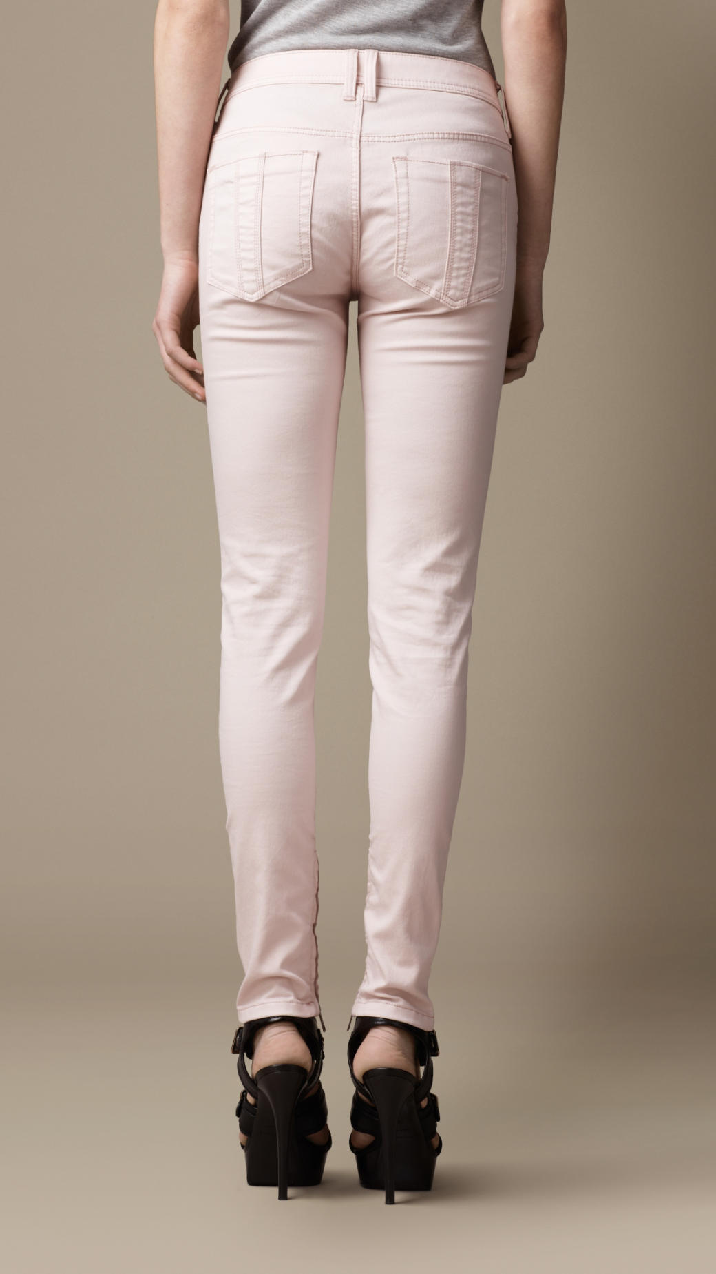 Burberry Bayswater Skinny Fit Jeans in Ice Pink (Pink)