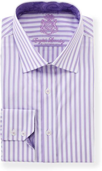 English Laundry Vertical Stripe Longsleeve Dress Shirt In