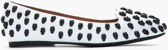 Jeffrey Campbell Black and White Skulltini Skull Studded Flats - Lyst