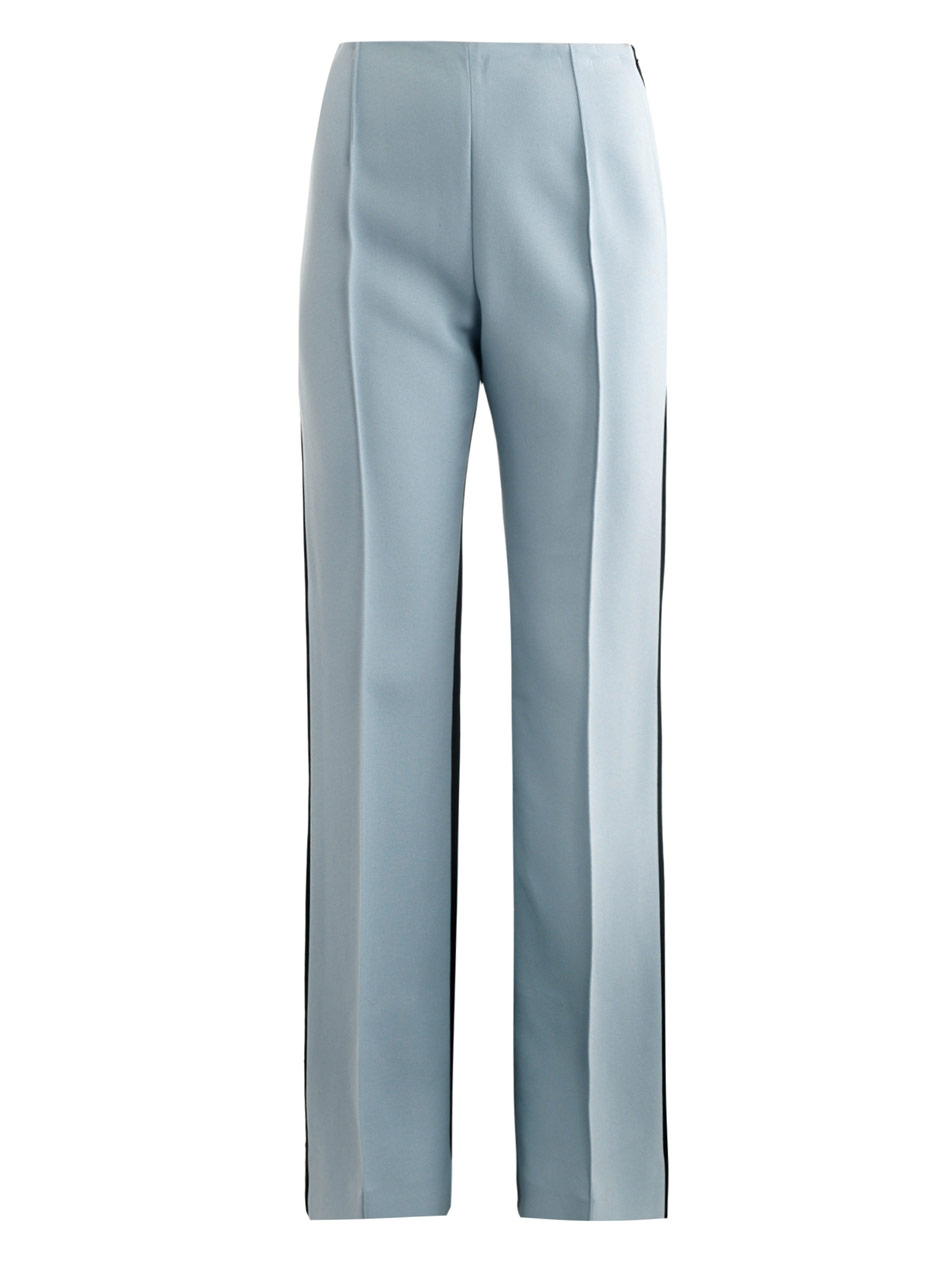 8266a2cec0b Lyst - Jonathan Saunders Krista High-Waisted Bootcut Trousers in Blue