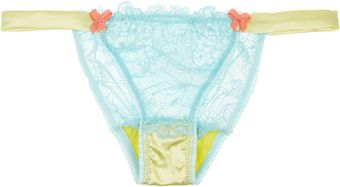 Mimi Holliday By Damaris Woozie Lace and Stretch-Silk Satin Briefs - Lyst