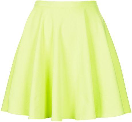 River Island Lime Green Skater Skirt